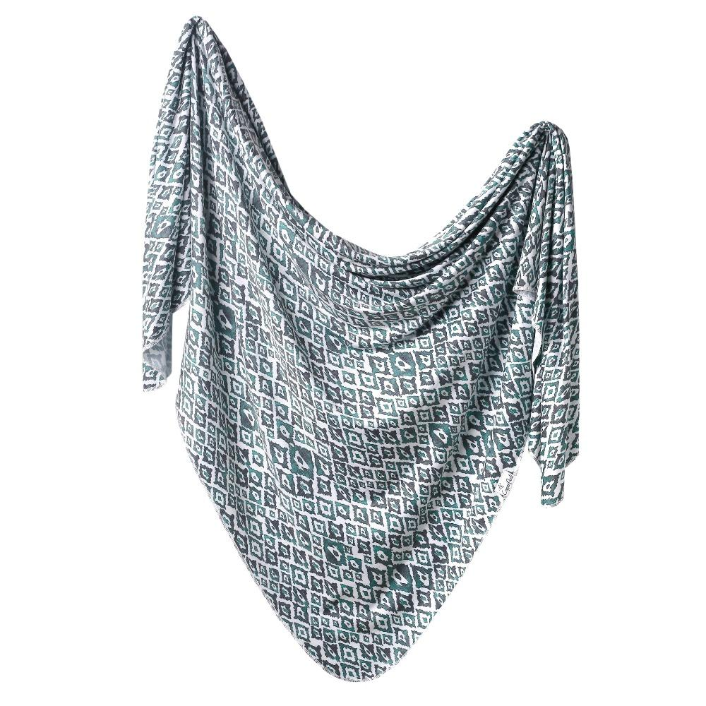 Copper Pearl Knit Swaddle Blanket | Topaz