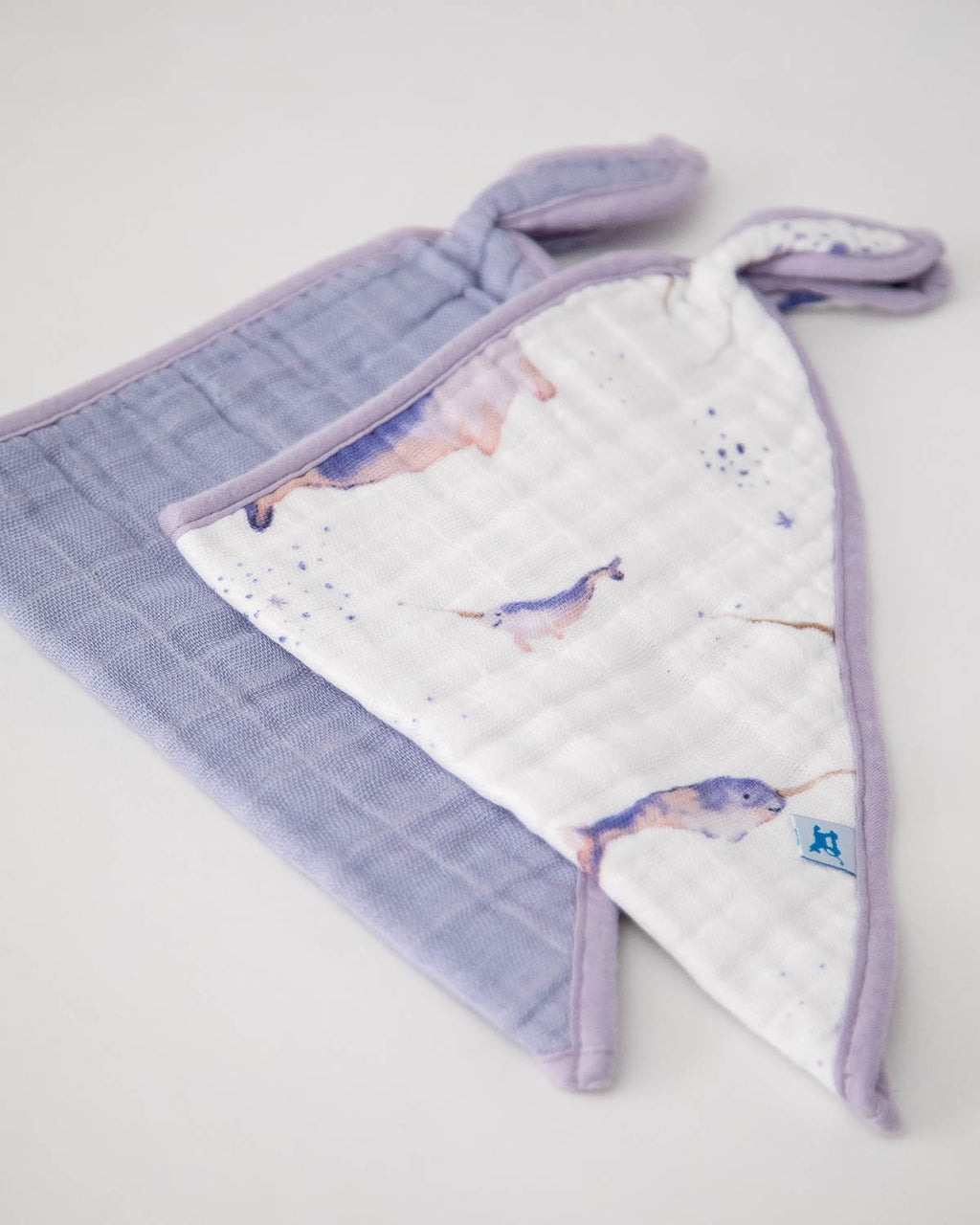Little Unicorn Cotton Muslin Bandana Drool Bib - Narwhal