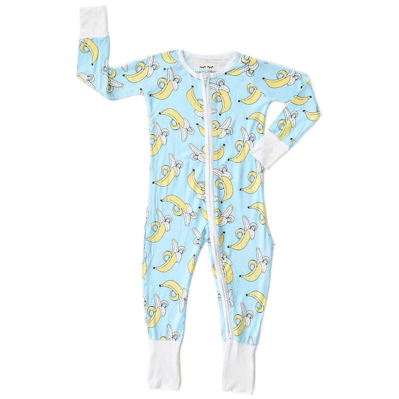 Little Sleepies Bananas Bamboo Viscose Convertible Romper/Sleeper