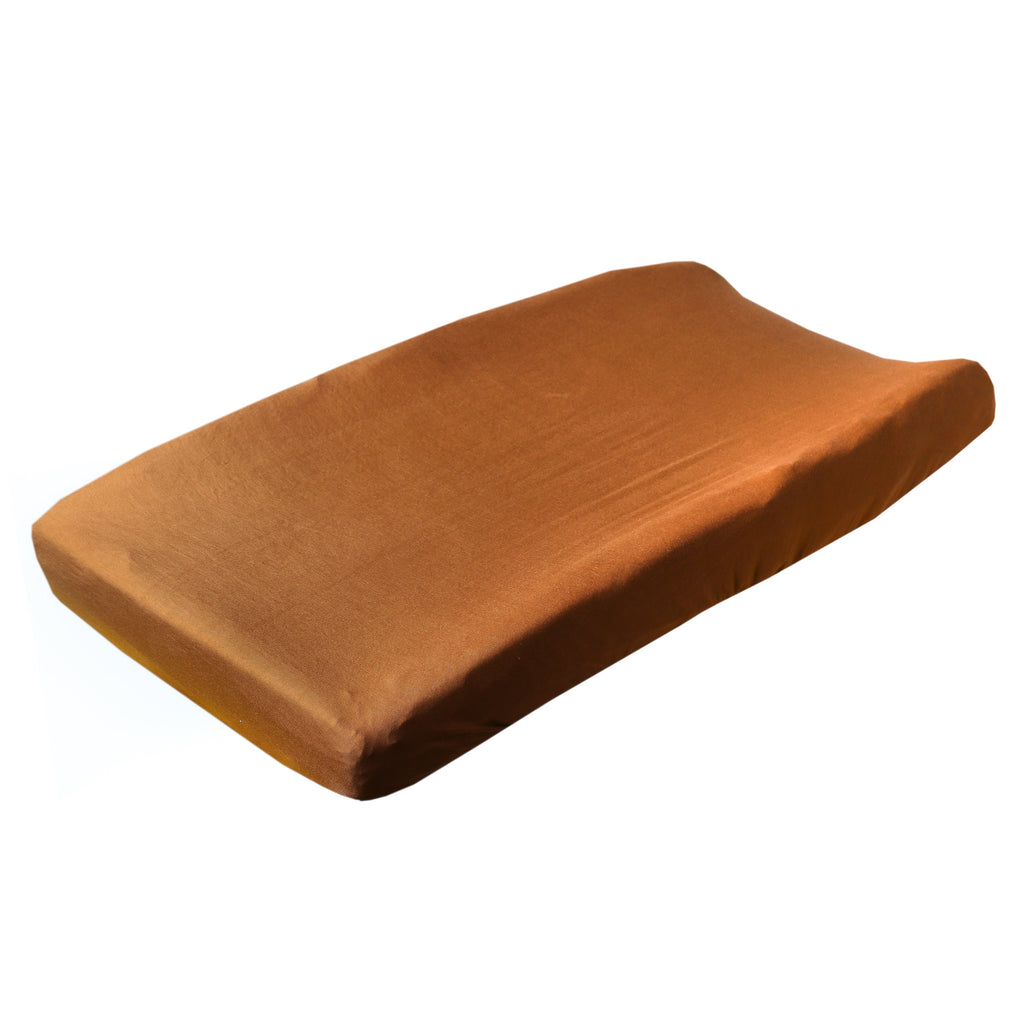 Copper Pearl Premium Knit Diaper Changing Pad Cover | Camel