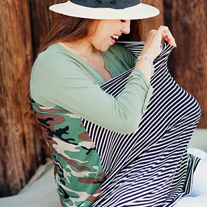 Covered Goods 4-in-1 Nursing Cover Camo Mismatch