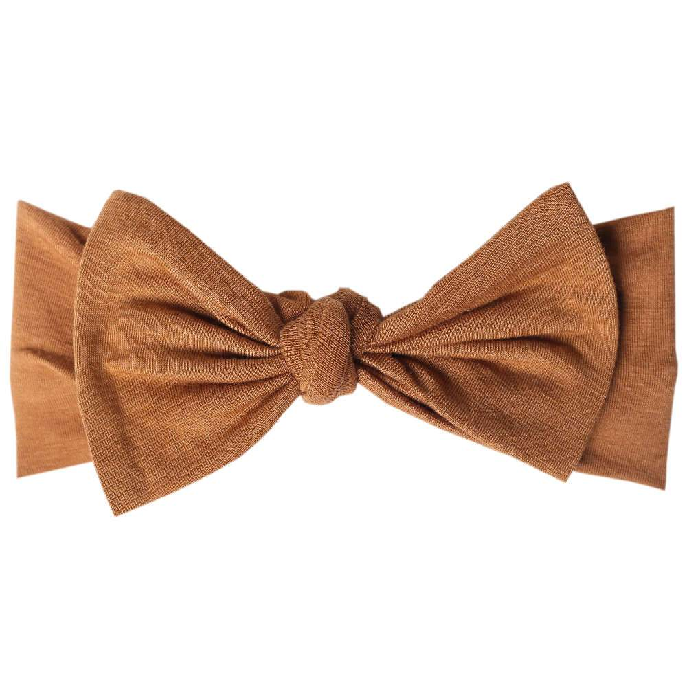 Copper Pearl Knit Headband - Camel