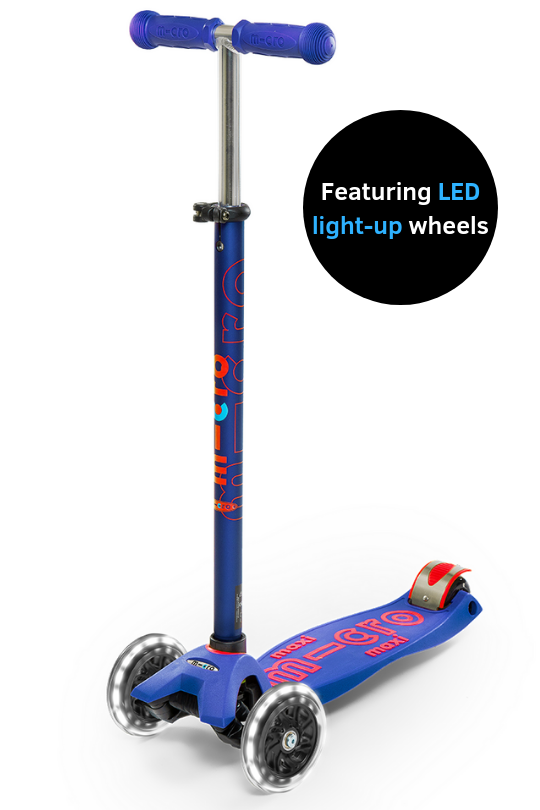 Micro Kickboard-Maxi LED Deluxe Ages 5-12