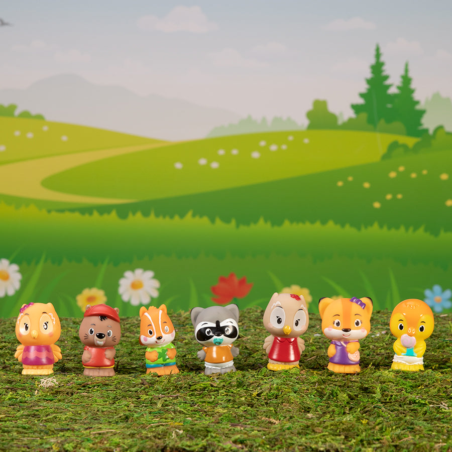 Fat Brain Timber Tots Forest Friends Set of 7