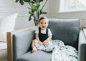 Copper Pearl Knit Swaddle Blanket | Kai