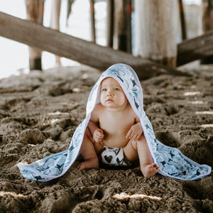 Copper Pearl Muslin Hooded Towel - Kai