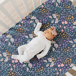 Copper Pearl Premium Crib Sheet - Meadow