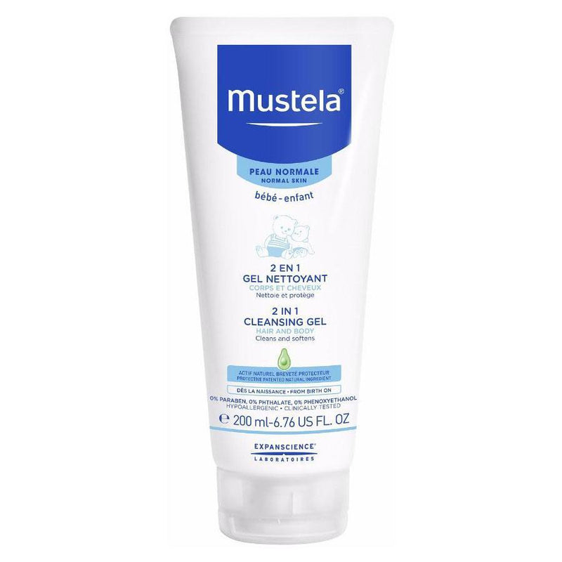 Mustela 2 in 1 Cleansing Gel - 200ml
