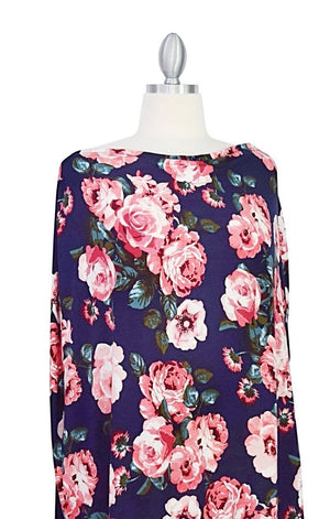 Covered Goods 4-in-1 Nursing Cover Navy Floral