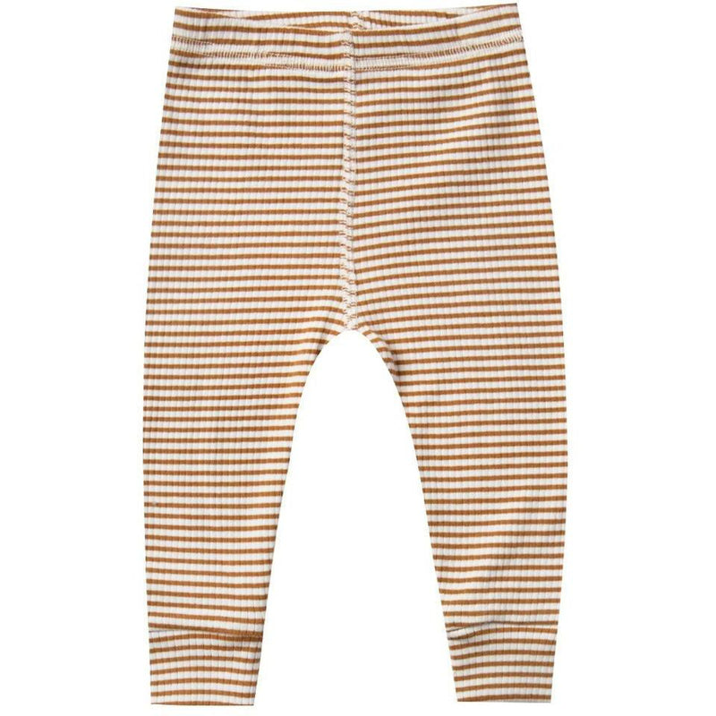 Quincy Mae Ribbed Legging | Walnut Stripe
