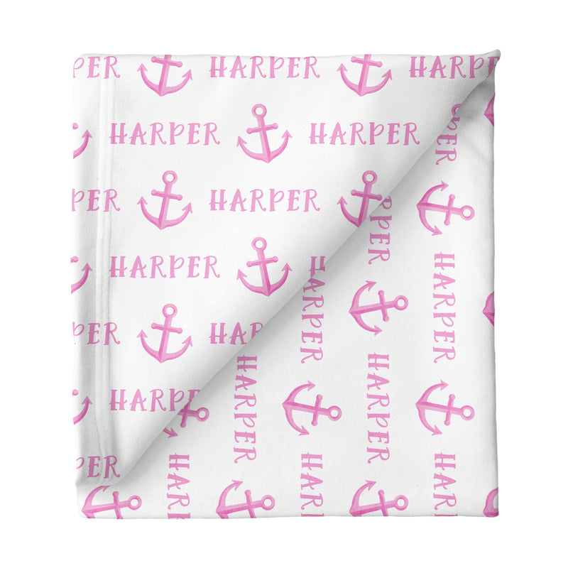 Sugar + Maple Large Stretchy Blanket - Anchor Pink