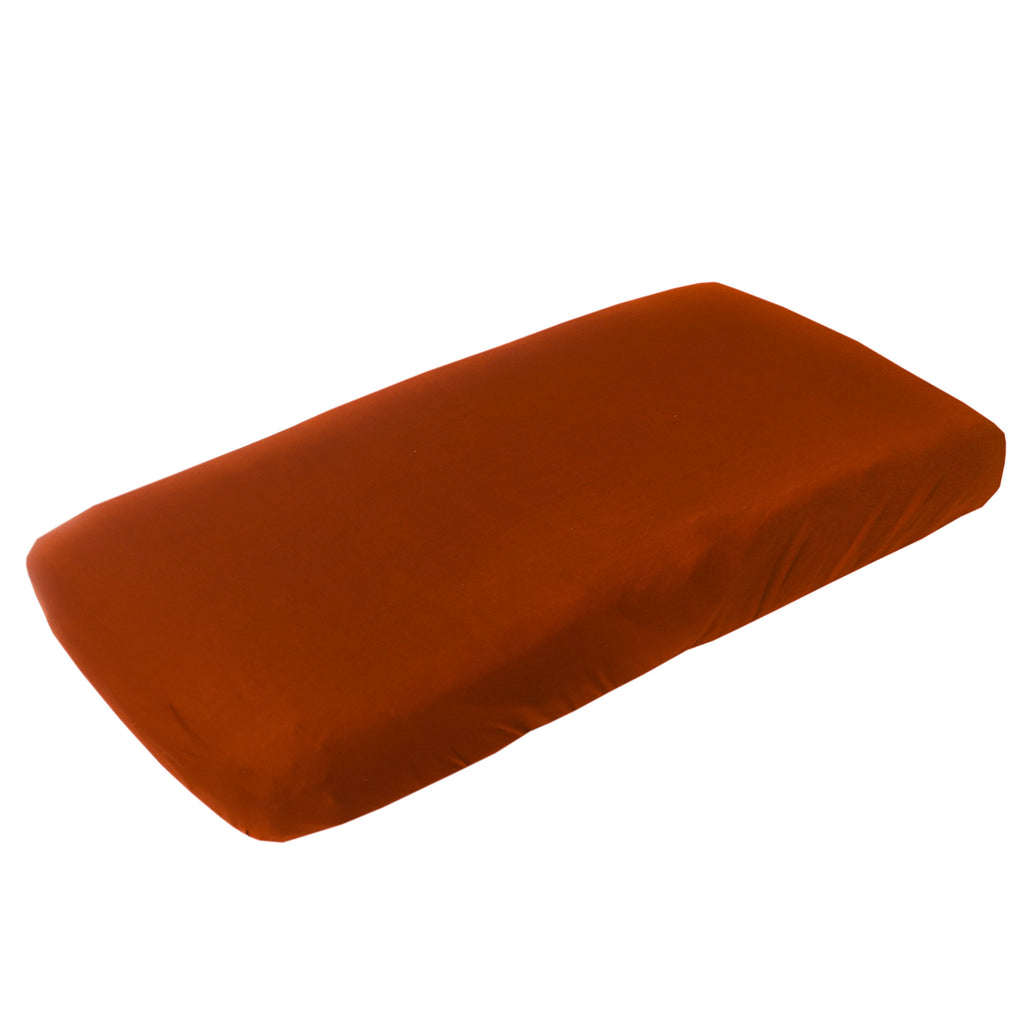 Copper Pearl Premium Diaper Changing Pad Cover - Rust