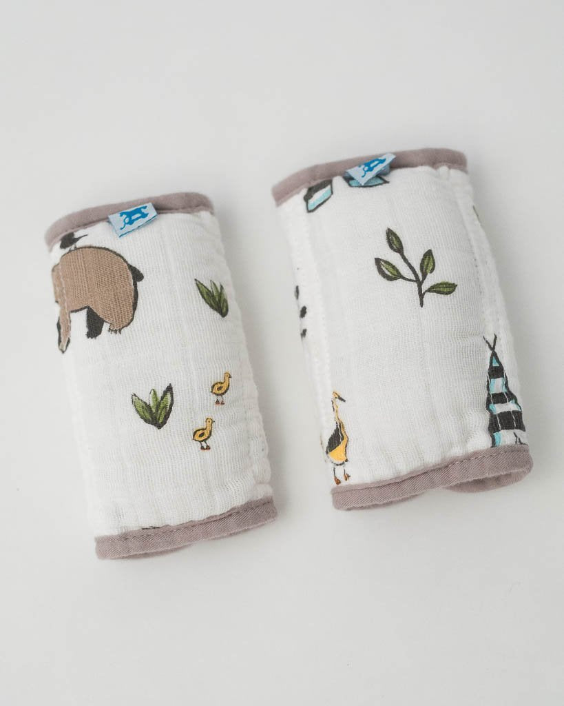 Little Unicorn Cotton Muslin Strap Covers - Forest Friends