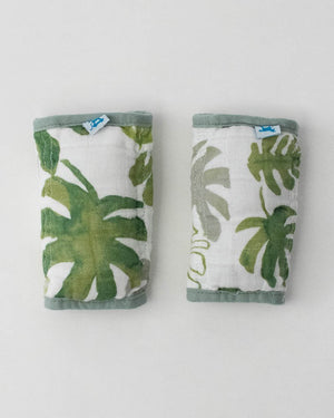 Little Unicorn Cotton Muslin Strap Covers - Tropical Leaf