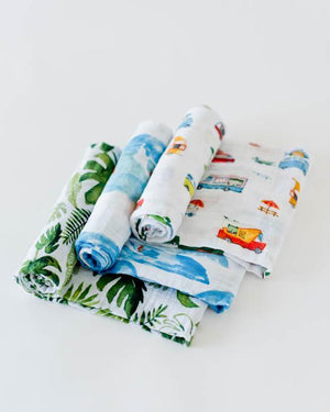 Little Unicorn Cotton Swaddle Set - Summer Vibe