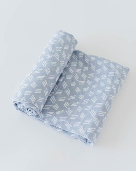 Little Unicorn Cotton Swaddle - Blue Grass