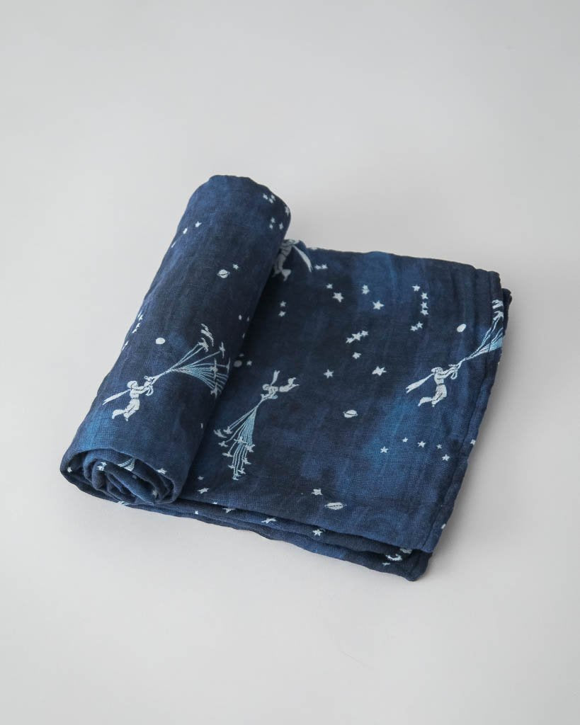 Little Unicorn Little Prince Cotton Muslin Swaddle Single - Flock of Stars