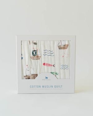 Little Unicorn Cotton Muslin Quilt - Treasure Map