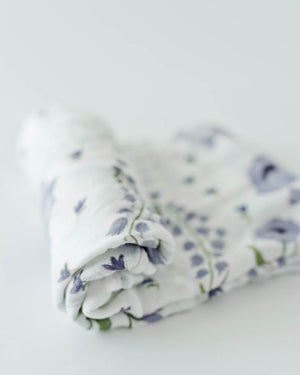 Little Unicorn Deluxe Swaddle - Blue Windflower