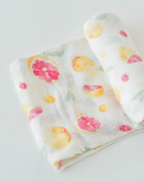 Little Unicorn Deluxe Swaddle - Grapefruit