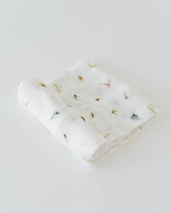 Little Unicorn Deluxe Swaddle - Gone Fishing