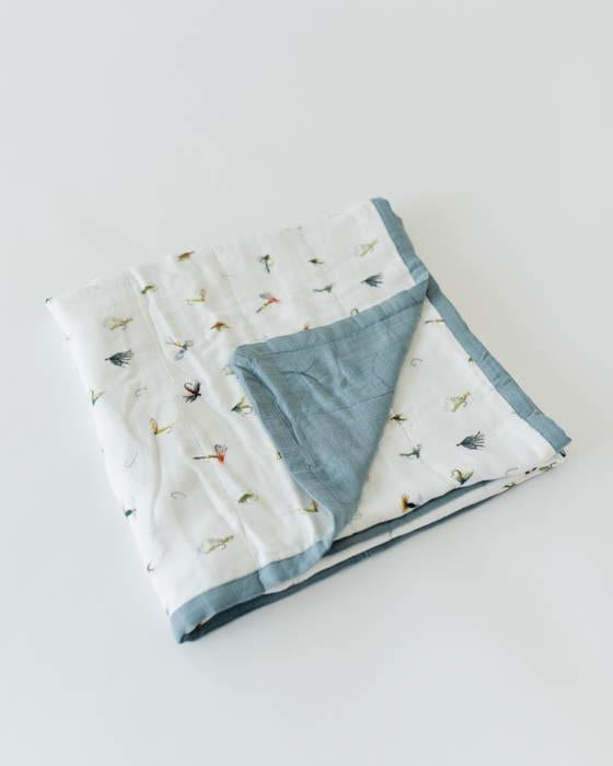 Little Unicorn Deluxe Muslin Quilt - Gone Fishing