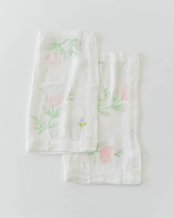 Little Unicorn Deluxe Security Blankets - Pink Peony