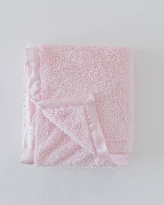 Little Unicorn Chenille Receiving Blanket - Pink