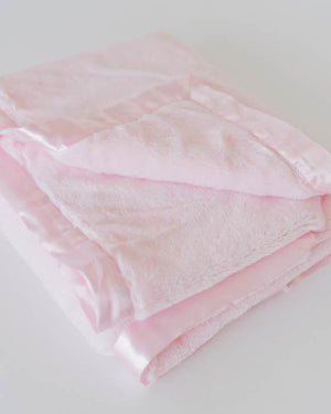 Little Unicorn Plush Receiving Blanket - Pink