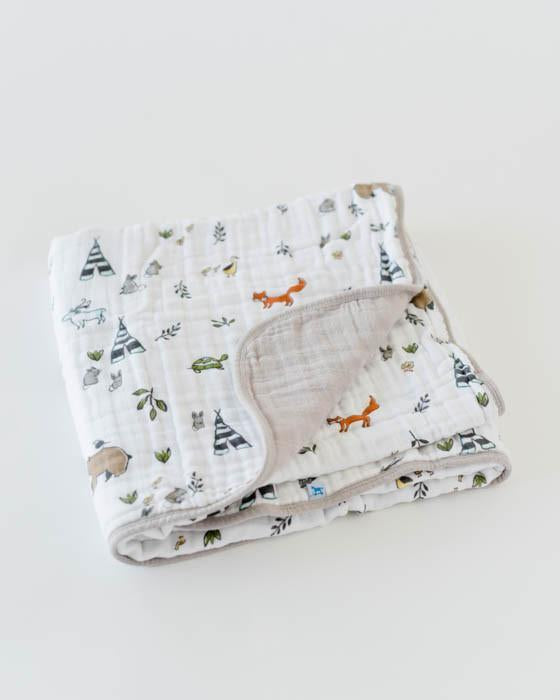 Little Unicorn Organic Cotton Muslin Quilt - Forest Friends