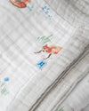 Little Unicorn Big Kid Cotton Muslin Quilt - Fox