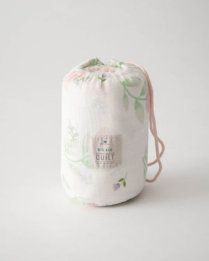 Little Unicorn Big Kid Deluxe Muslin Quilt  - Pink Peony