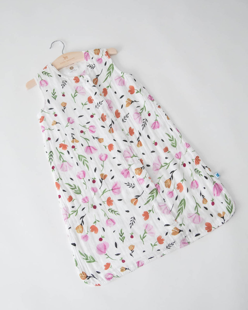 Little Unicorn Cotton Muslin Sleep Bag Medium - Berry Bloom