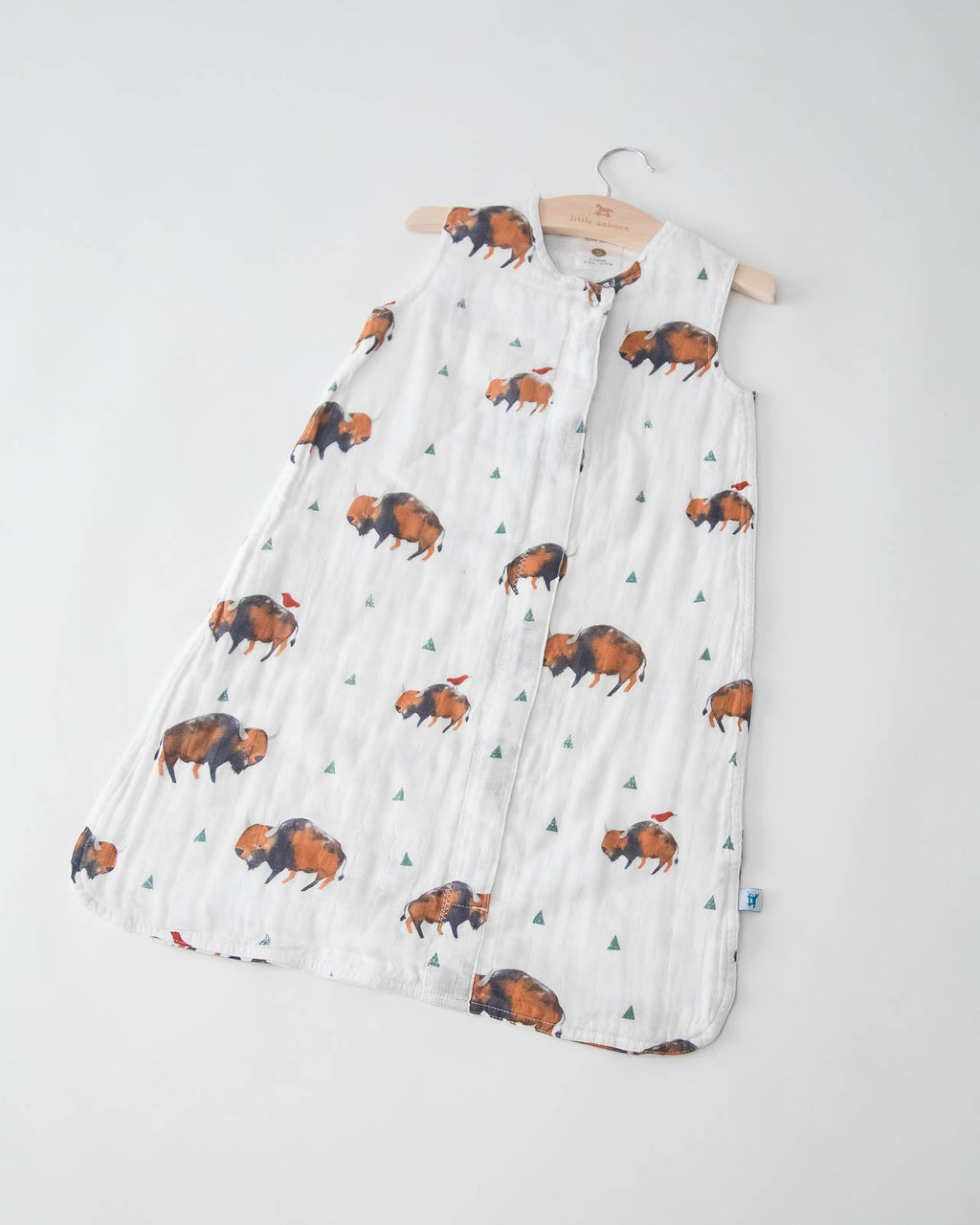 Little Unicorn Cotton Muslin Sleep Bag Small - Bison