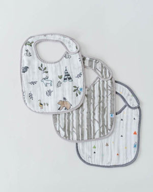 Little Unicorn Cotton Muslin Classic Bib 3 pack- Forest Friends
