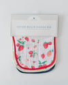 Little Unicorn Cotton Muslin Classic Bib 3 pack - Berry Lemonade