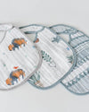 Little Unicorn Cotton Muslin Classic Bib 3 pack - Bison