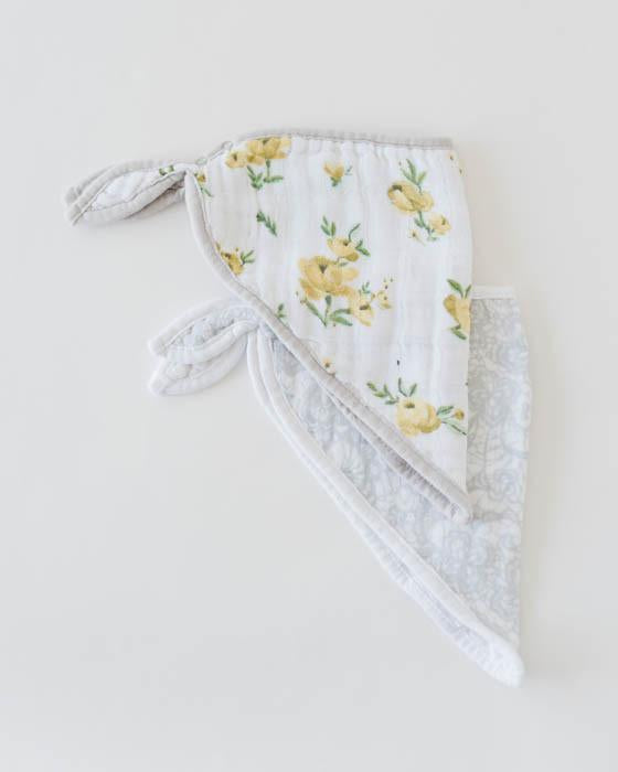 Little Unicorn Cotton Muslin Bandana Drool Bib - Yellow Rose
