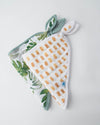 Little Unicorn Cotton Muslin Bandana Drool Bib - Tropical Leaf