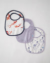 Little Unicorn Deluxe Muslin Classic Bib 3 pack - Porcelain Pond Set