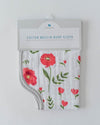 Little Unicorn Cotton Muslin Burp Cloth - Summer Poppy