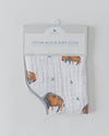 Little Unicorn Cotton Muslin Burp Cloth - Bison
