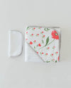Little Unicorn Hooded Towel & Washcloth Set - Summer Poppy