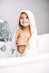 Little Unicorn Hooded Towel & Washcloth Set - Watercolor Rose