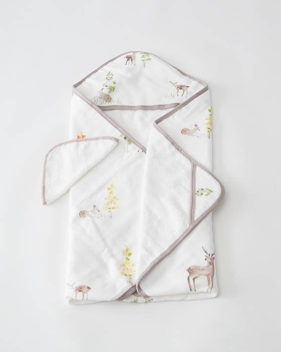 Little Unicorn Hooded Towel & Washcloth Set - Oh Deer