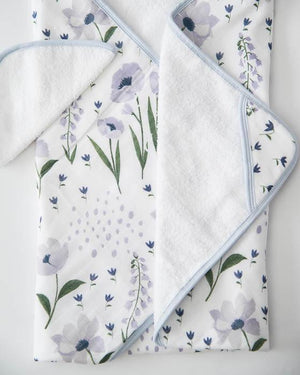 Little Unicorn Hooded Towel & Washcloth Set - Blue Windflower