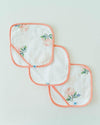 Little Unicorn Washcloth Set - Watercolor Rose