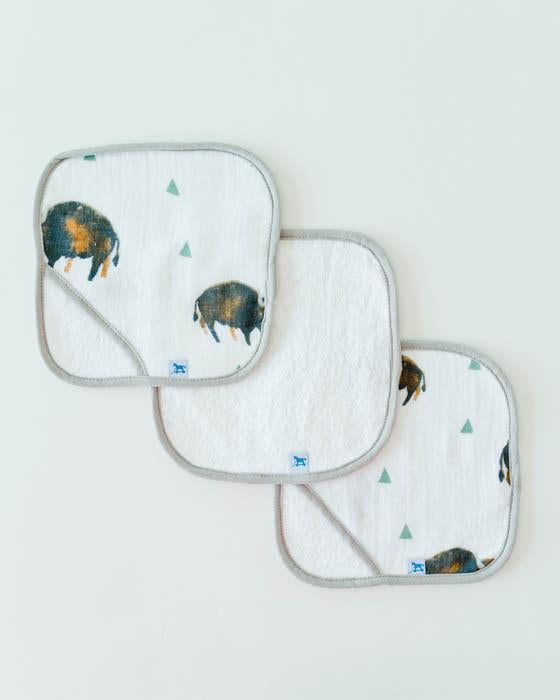 Little Unicorn Washcloth Set - Bison