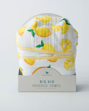 Little Unicorn Big Kid Hooded Towel - Lemon