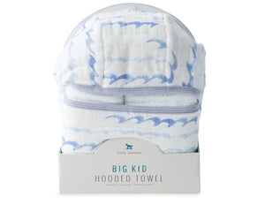 Little Unicorn Big Kid Hooded Towel - High Tide